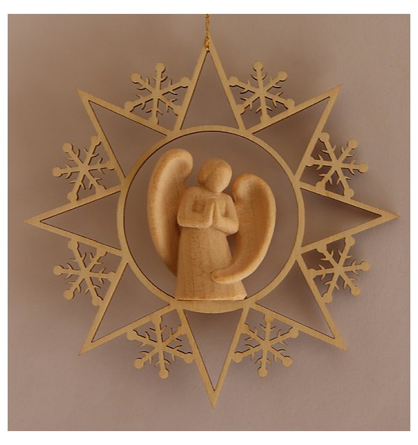 6563 - Star with Angel Design modern praying