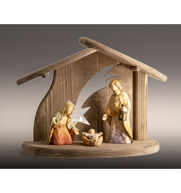 8190 -  Stable star with Holy Family ANNA COLOR