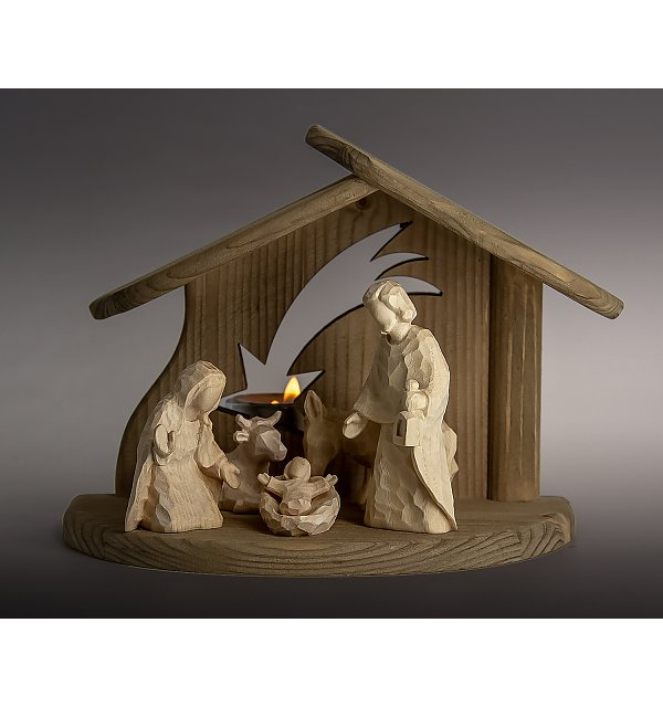 8191 -  Stable star with Holy Family ox donkey ANNA NATUR