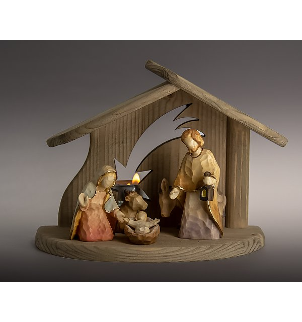 8191 -  Stable star with Holy Family ox donkey ANNA COLOR