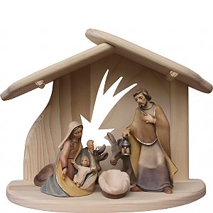 8091 - Holy Family with Stable star Donkey Ox
