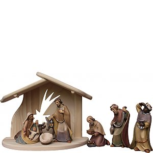 8092 - Holy Family with Stable star Donkey Ox Kings